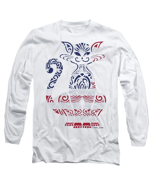 Made In The Usa Cat Long Sleeve T-Shirt