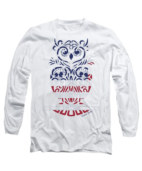 Made In The Usa Tribal Owl Long Sleeve T-Shirt
