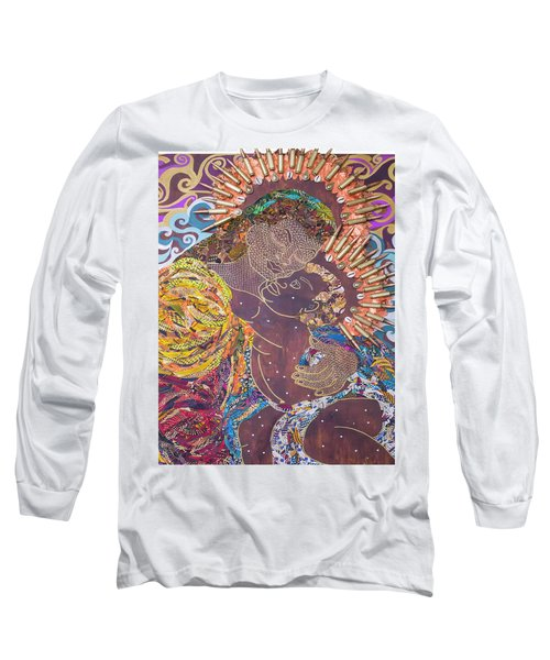 Madonna And Child The Sacred And Profane Long Sleeve T-Shirt by Apanaki Temitayo M