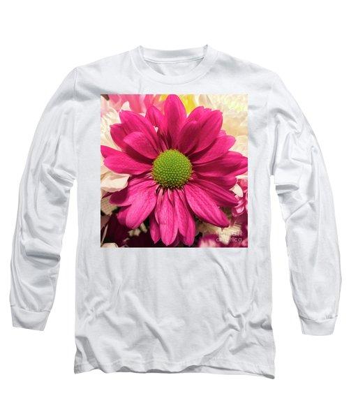 Magenta Chrysanthemum Long Sleeve T-Shirt