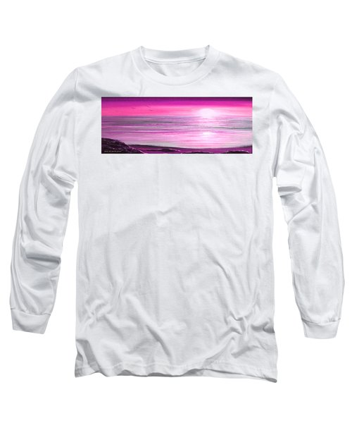 Magenta Panoramic Sunset Long Sleeve T-Shirt
