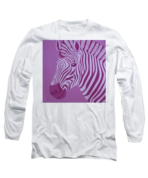 Magenta Zebra Long Sleeve T-Shirt