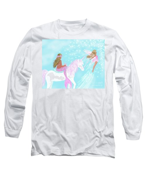Long Sleeve T-Shirt featuring the painting Magical Play Day by Leslie Allen