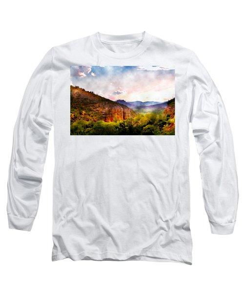 Magical Sedona Long Sleeve T-Shirt by Ellen Heaverlo