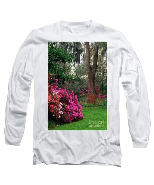 Long Sleeve T-Shirt featuring the photograph Magnolia Plantation - Fs000148a by Daniel Dempster