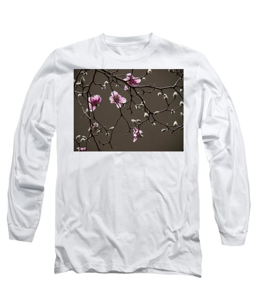 Magnolias In Bloom Long Sleeve T-Shirt by Rob Amend