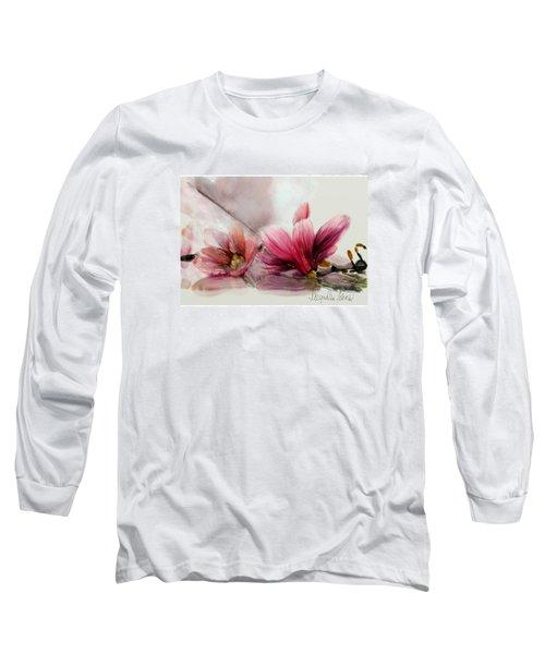 Magnolien .... Long Sleeve T-Shirt by Jacqueline Schreiber