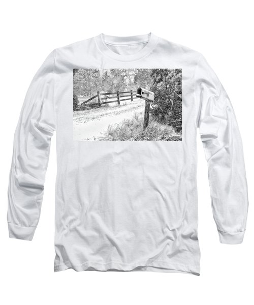 Mailbox Snow Long Sleeve T-Shirt