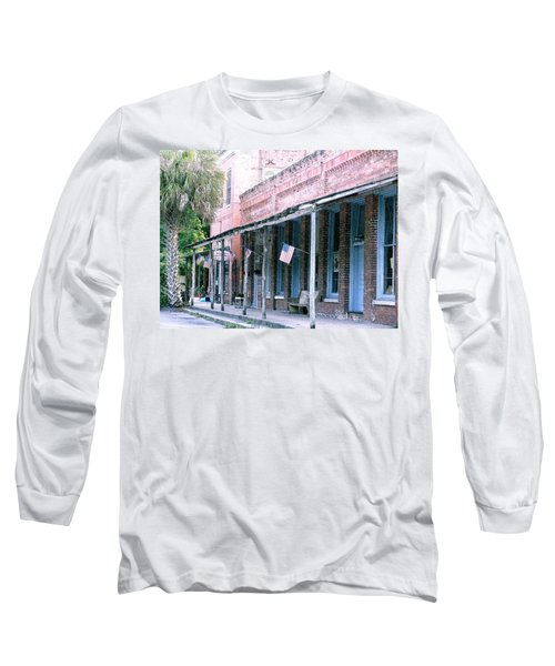 Main Street Micanopy Florida Long Sleeve T-Shirt