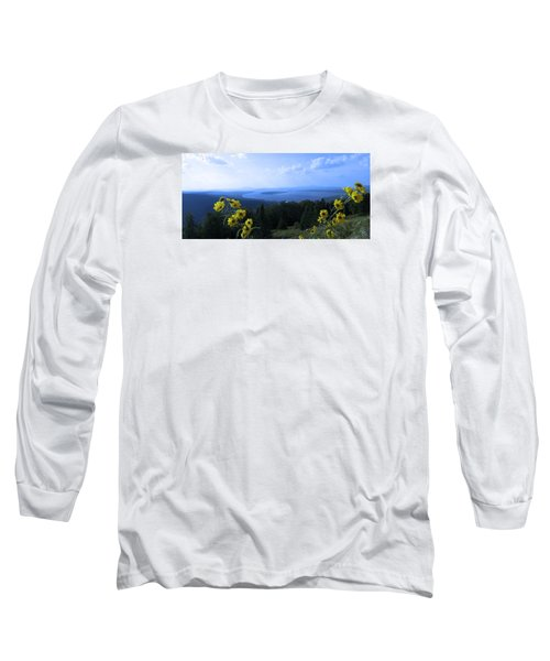 Maine Mountain Vistas Long Sleeve T-Shirt by Mike Breau