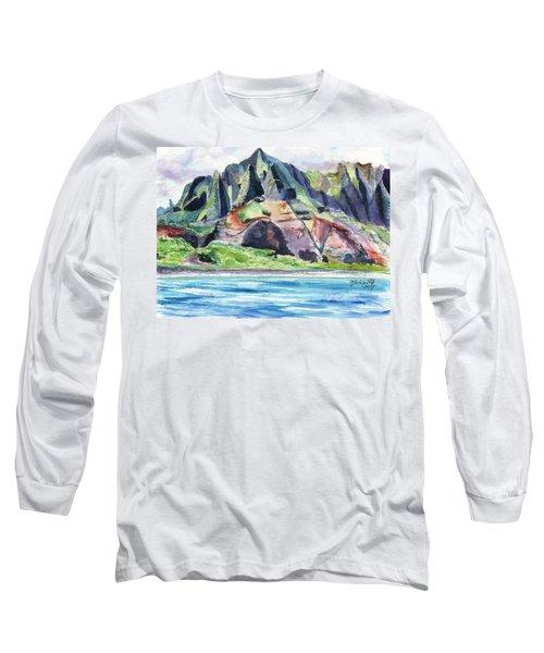 Majestic Na Pali Coast Long Sleeve T-Shirt
