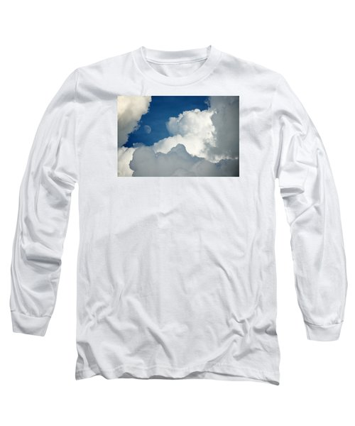 Majestic Storm Clouds With Moon Long Sleeve T-Shirt