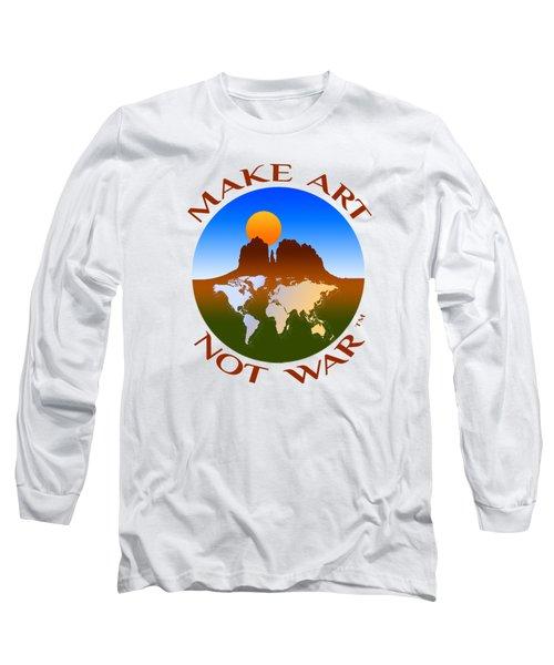 Make Art Not War Logo Long Sleeve T-Shirt
