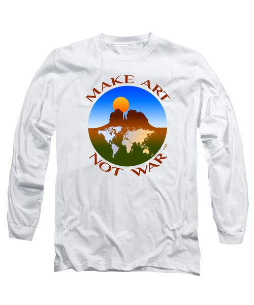 Make Art Not War Logo Long Sleeve T-Shirt