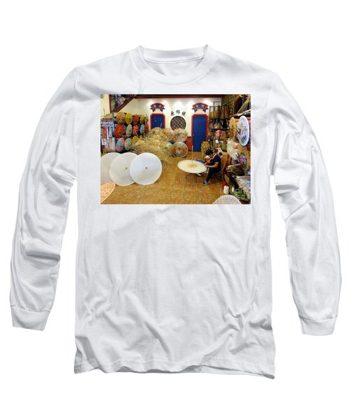 Making Chinese Paper Umbrellas Long Sleeve T-Shirt