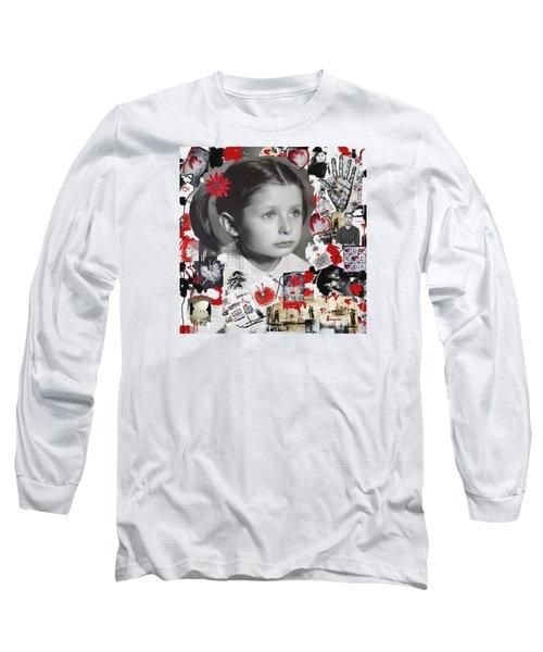 Long Sleeve T-Shirt featuring the mixed media Mala by Sladjana Lazarevic