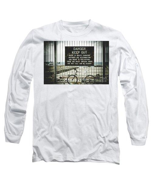 Long Sleeve T-Shirt featuring the photograph Mala Wharf Lahaina Maui Hawaii by Sharon Mau