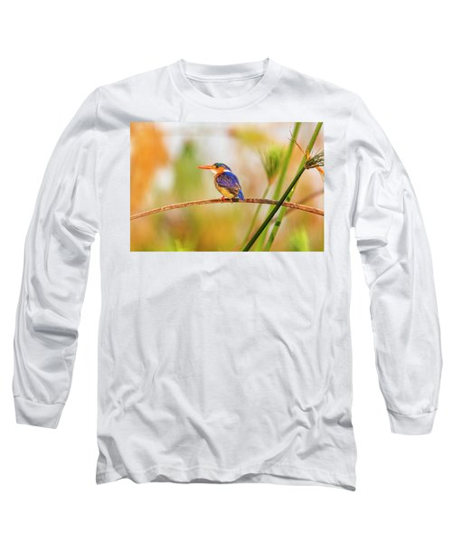 Malachite Kingfisher Hunting Long Sleeve T-Shirt