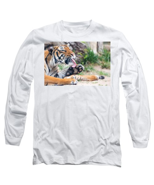 Malayan Tiger Grooming Long Sleeve T-Shirt
