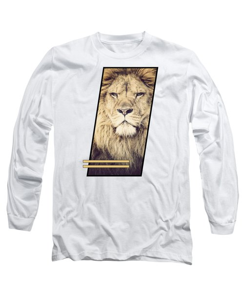 Male Lion Long Sleeve T-Shirt by Sven Horn