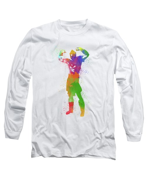 Male Watercolor Pose 1 Long Sleeve T-Shirt
