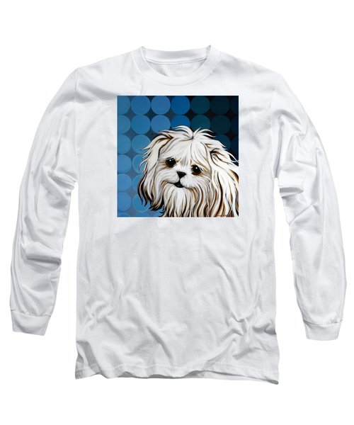 Long Sleeve T-Shirt featuring the painting Maltese Magic by Leanne WILKES
