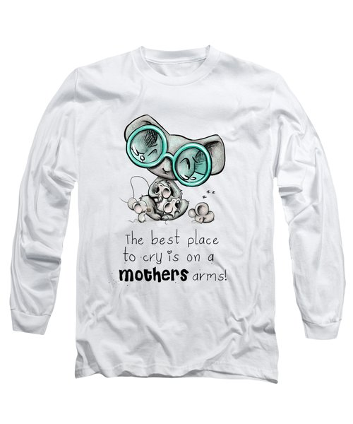 Long Sleeve T-Shirt featuring the digital art Mamma Mouse by Lizzy Love