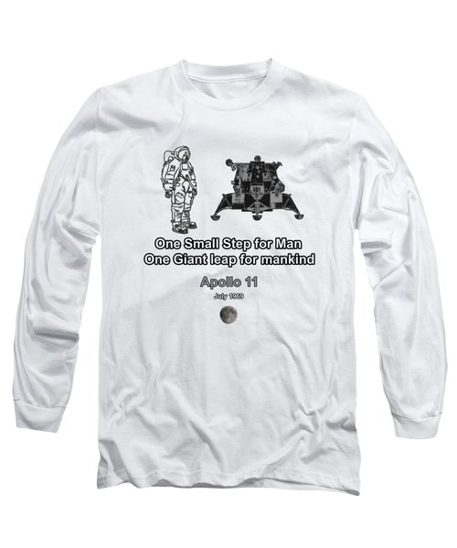 Man And The Moon Walk Long Sleeve T-Shirt by Tom Conway