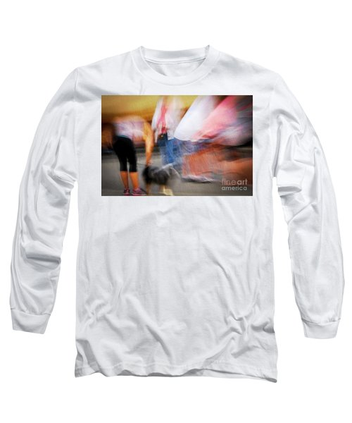 Woman Playing With Dog Long Sleeve T-Shirt
