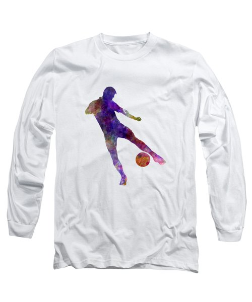 Man Soccer Football Player 02 Long Sleeve T-Shirt by Pablo Romero