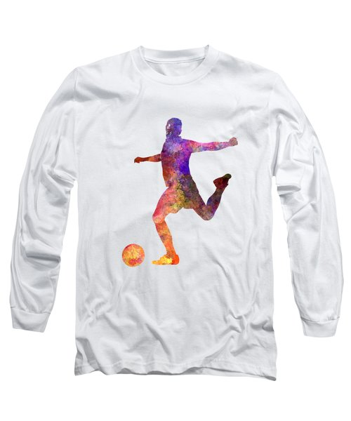 Man Soccer Football Player 03 Long Sleeve T-Shirt by Pablo Romero