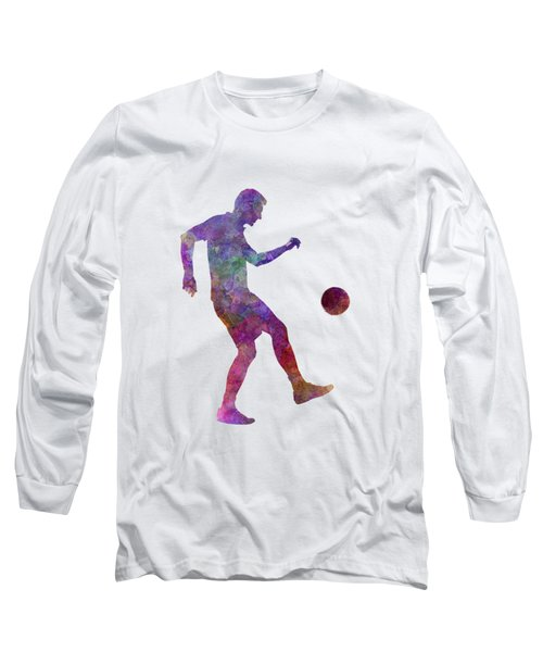 Man Soccer Football Player 04 Long Sleeve T-Shirt by Pablo Romero