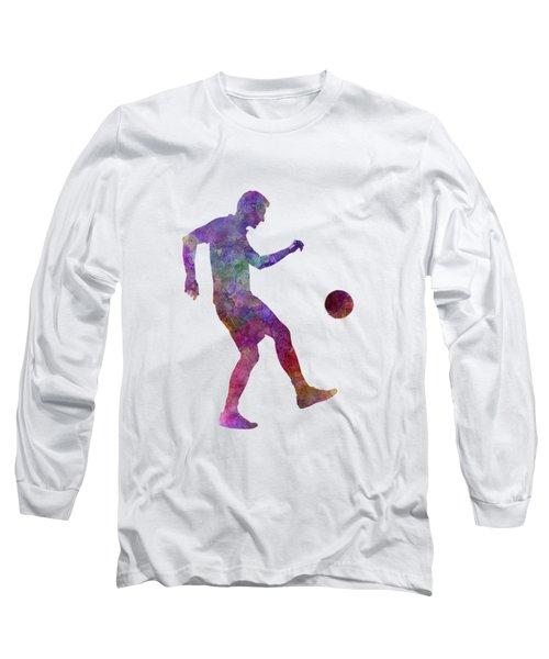 Man Soccer Football Player 04 Long Sleeve T-Shirt