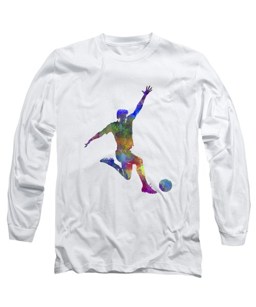 Man Soccer Football Player 05 Long Sleeve T-Shirt by Pablo Romero