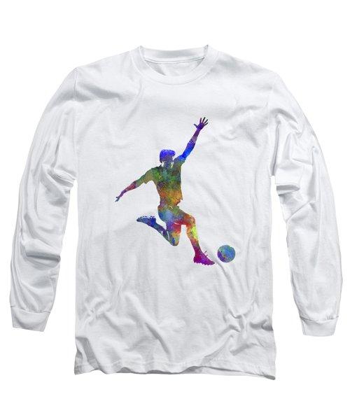 Man Soccer Football Player 05 Long Sleeve T-Shirt
