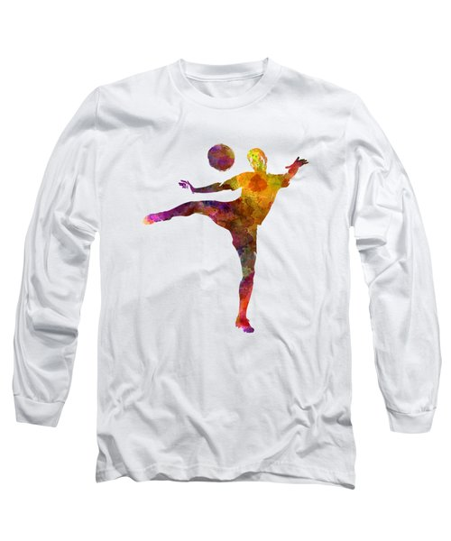 Man Soccer Football Player 07 Long Sleeve T-Shirt by Pablo Romero