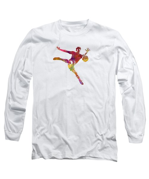 Man Soccer Football Player 08 Long Sleeve T-Shirt by Pablo Romero