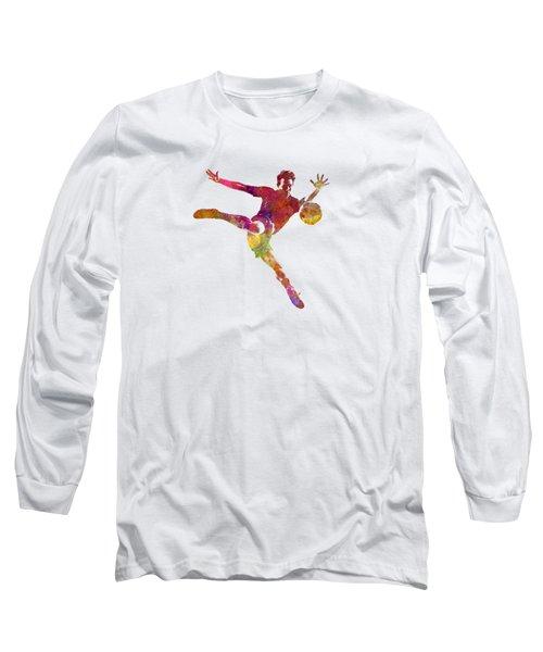 Man Soccer Football Player 08 Long Sleeve T-Shirt