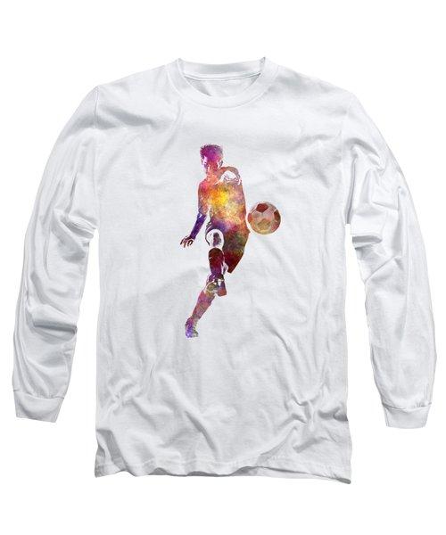 Man Soccer Football Player 10 Long Sleeve T-Shirt