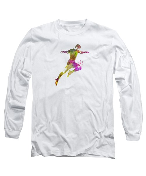 Man Soccer Football Player 12 Long Sleeve T-Shirt by Pablo Romero