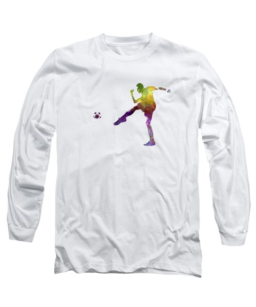 Man Soccer Football Player 15 Long Sleeve T-Shirt by Pablo Romero