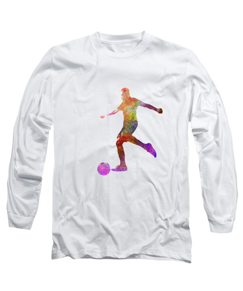 Man Soccer Football Player 16 Long Sleeve T-Shirt by Pablo Romero