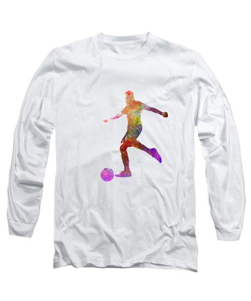 Man Soccer Football Player 16 Long Sleeve T-Shirt