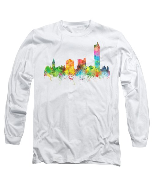 Manchester City Skyline Long Sleeve T-Shirt by Marlene Watson