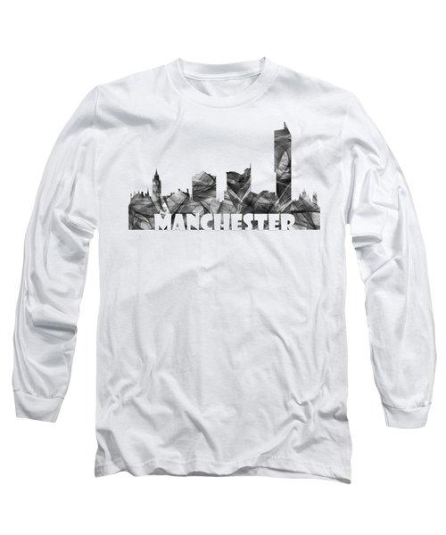 Manchester England Skyline Long Sleeve T-Shirt