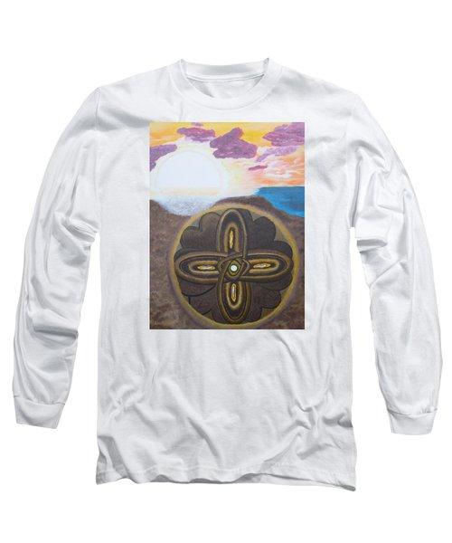 Mandala In The Sand Long Sleeve T-Shirt