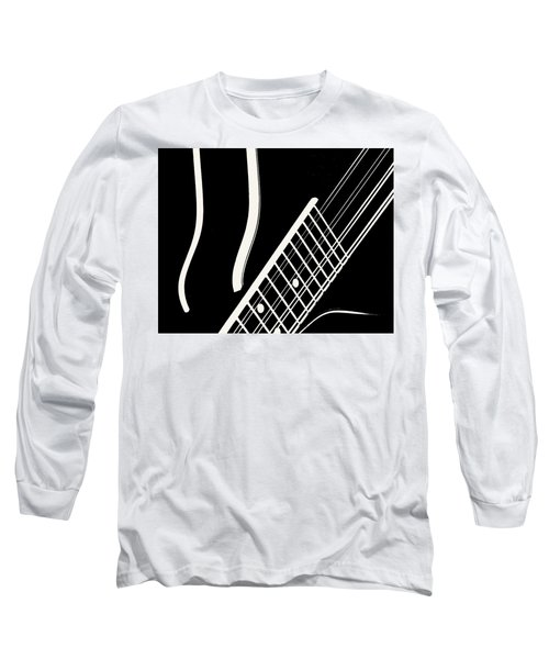 Mandolin Close Bw Long Sleeve T-Shirt by Jana Russon