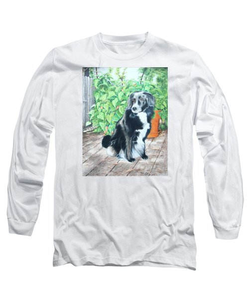 Long Sleeve T-Shirt featuring the drawing Mandy by Mike Ivey
