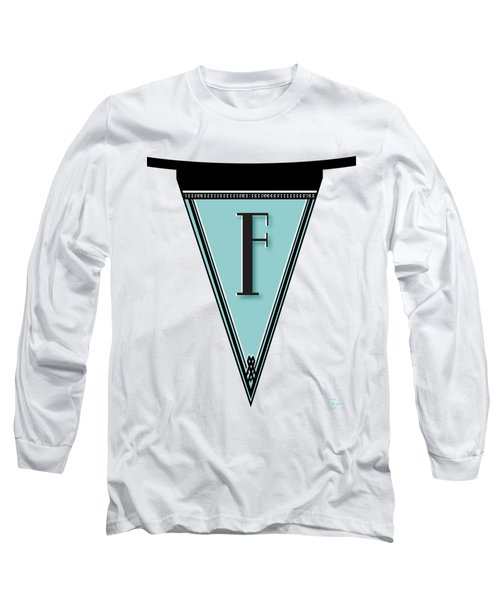 Pennant Deco Blues Banner Initial Letter F Long Sleeve T-Shirt