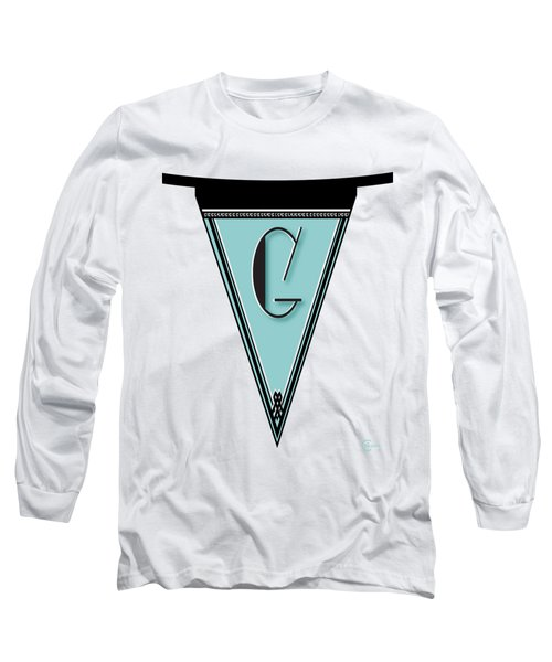 Pennant Deco Blues Banner Initial Letter G Long Sleeve T-Shirt
